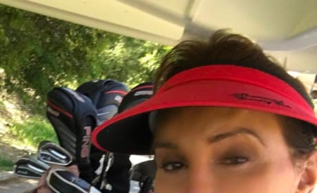 Caitlyn Jenner in Golf Cart