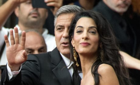 Amal Alamuddin and George Clooney Red Carpet Photo