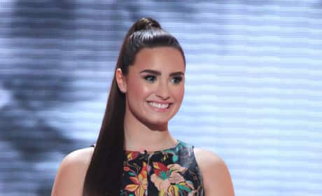 Demi Lovato on X Factor Stage