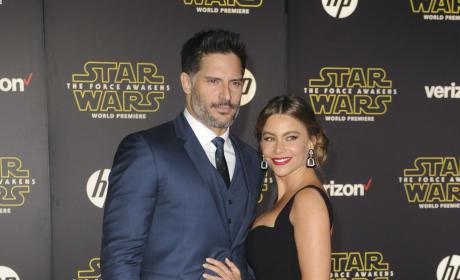 Sofia Vergara and Joe Manganiello:  'Star Wars: The Force Awakens' Premiere