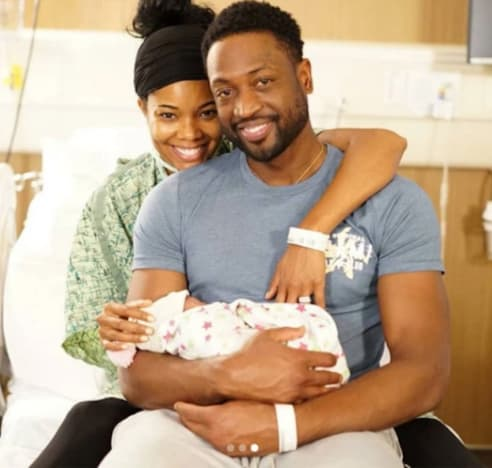 Gabrielle Union and Dwyane Wade and Their Baby