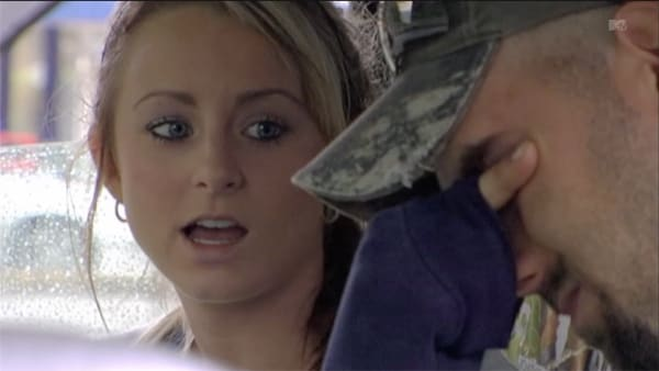 Leah and Corey Crying