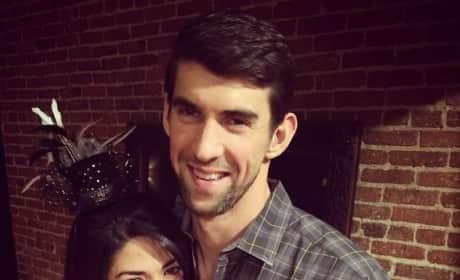 Nicole Johnson with Michael Phelps