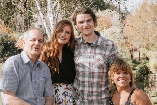 Isabel Rock, Jacob Roloff, Amy Roloff, and Izzy's Dad