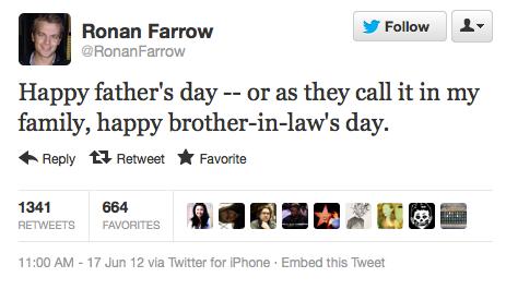 Ronan Farrow Tweet