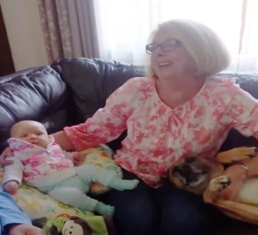 dog and grandma
