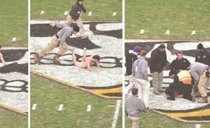 Kid Goes Streaking at Football Game, Injures Junk