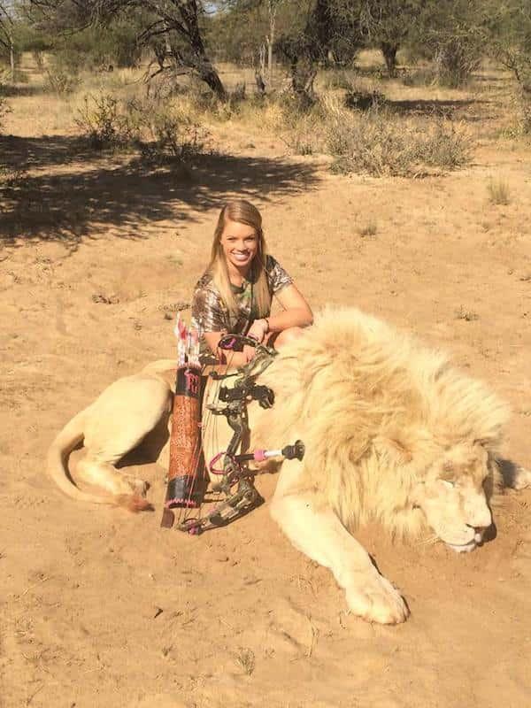 Kendall Jones with Dead Lion