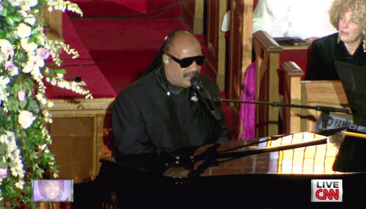 Stevie Wonder at Whitney's Funeral