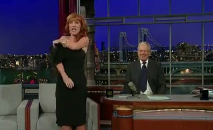 Kathy Griffin Strips Down For David Letterman