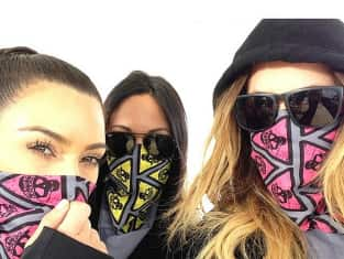 Kim and Khloe in Bandanas