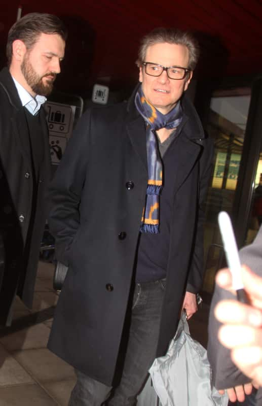 Colin Firth Lands In Germany Ahead of Festival