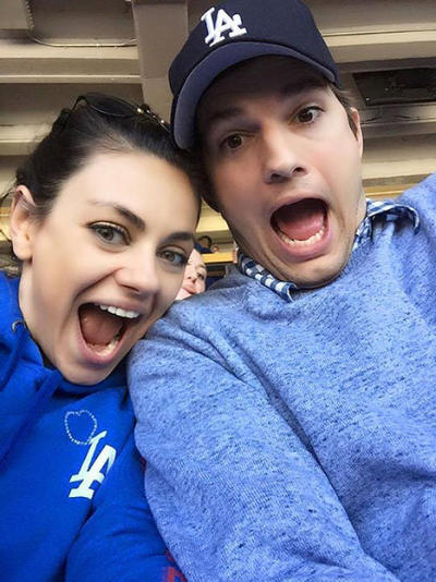 Mila Kunis and Ashton Kutcher Selfie