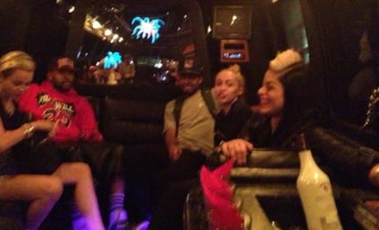 Miley Cyrus and Mike Will Made It: Spotted, Hanging with Family on Party Bus