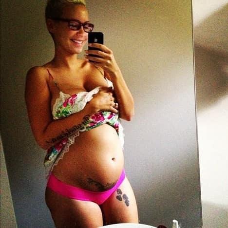 Amber Rose Pregnant Photo