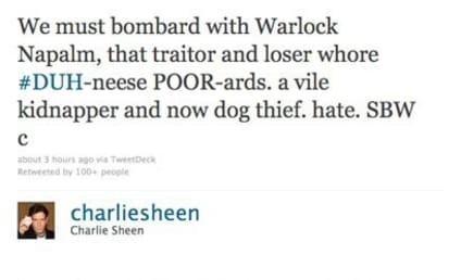Charlie Sheen on Denise Richards: Dog Killer!!!