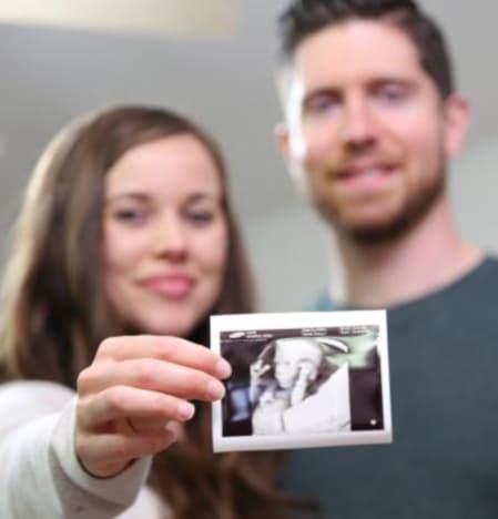 Pregnancy announcement of Jessa Dujar and Ben Sewald