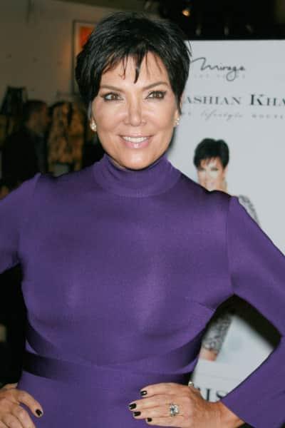 Kris Jenner in Purple