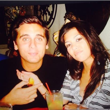 Kourtney Kardashian and Scott Disick Throwback Pic