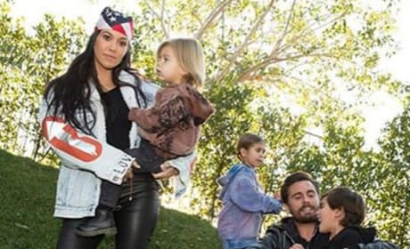 Kourtney Kardashian and Scott Disick and Family