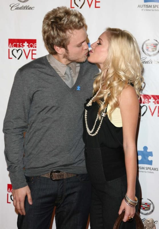 Spencer Pratt and Heidi Montag Kiss
