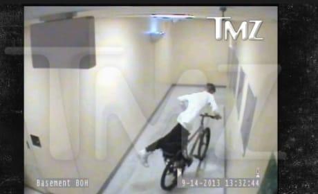 Justin Bieber Steals Bike, Gets Apprehended by Security