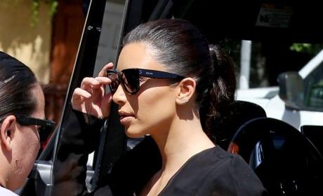 Kim Kardashian Staring
