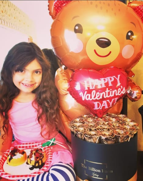 Farrah abraham and sophia on valentines day