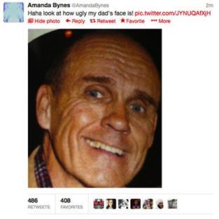 Amanda Ugly Tweet Dad