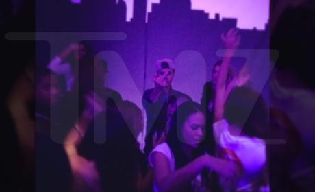Justin Bieber Flips Off the Camera
