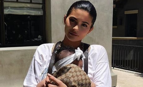 Kylie Jenner Carrying Stormi Webster