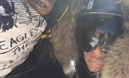 Kim Kardashian and Kanye West: Selfies on the Slope!