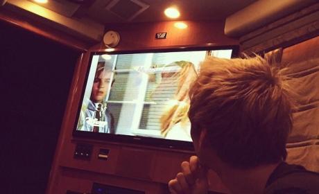 Aaron Carter Watches Lizzie McGuire