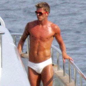 David Beckham Underwear Photo