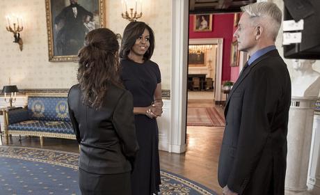 Michelle Obama NCIS Photo