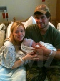 Levi Johnston, Sunny Oglesby, Baby