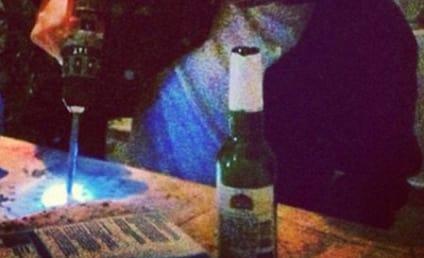 Robert Pattinson, Power Drill Spotted at NYC Bar