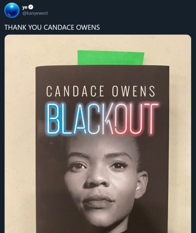Kanye West on Twitter - Thanks to Candice Owens