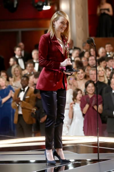 Emma Stone Smiles as Oscars Presenter