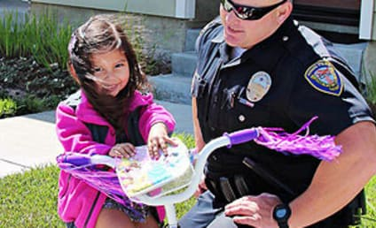 Police Officer Replaces Girl's Stolen Bike, Becomes Facebook Hero