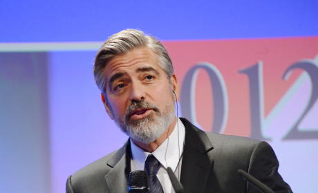 George Clooney at the Mic
