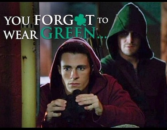 Colton Haynes for St. Patrick's Day