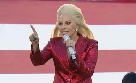 Lady Gaga National Anthem Photo