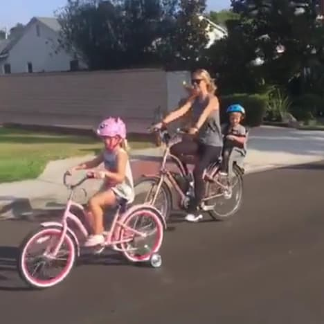 christina el moussa sunday funday bike ride