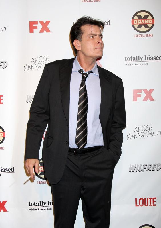 Charlie Sheen on FX Carpet