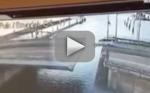 Car Tries, Fails to Jump Closing Bridge: WATCH!