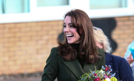 Kate Middleton Visits St. Catherine's Primary School