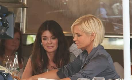 Lisa Vanderpump and Yolanda Foster Film at Villa Blanca