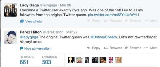 Lady Gaga-Perez Hilton Twitter Feud