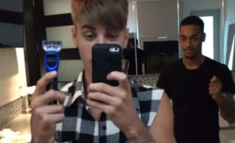Justin Bieber Shaves His Mustache!